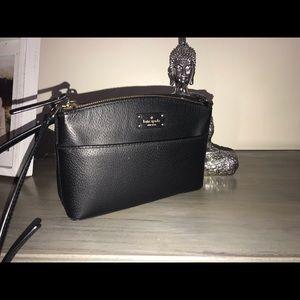Black Kate Spade Crossbody AND Matching Wallet